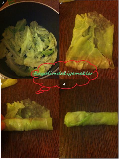 Beyaz Lahana sarmasi tarifi,resimli lezzetli lahana sarmasi nasil yapilir