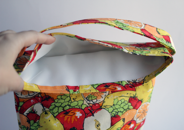 easy sewing pattern for basic lunch sack