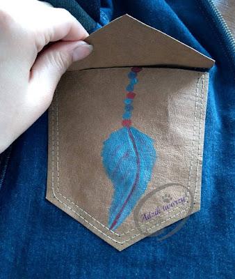 kurtka jeansowa DIY ręcznie malowana