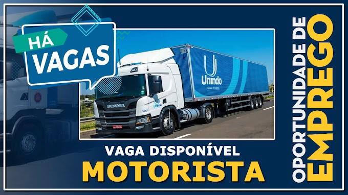 Transportadora Unindo abre vagas para motorista carreteiro e manobrista