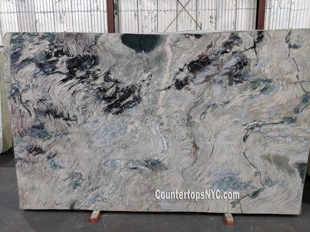 water lily polished marble slabs NYC