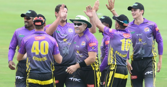 Hollywoodbets Dolphins - Cricket Team - Purple Away Kit