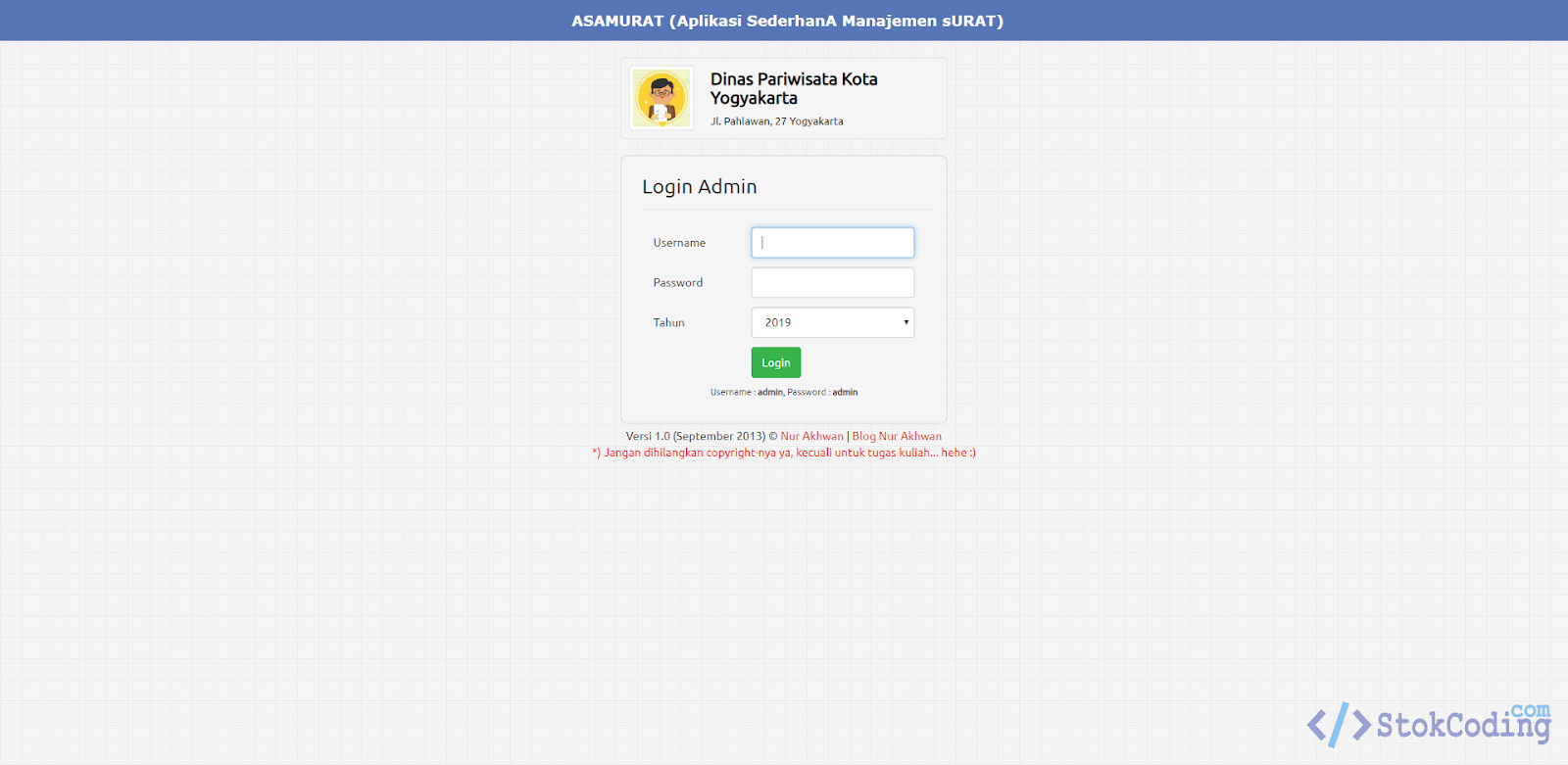 Sistem Aplikasi Managemen Surat (Codeigniter)
