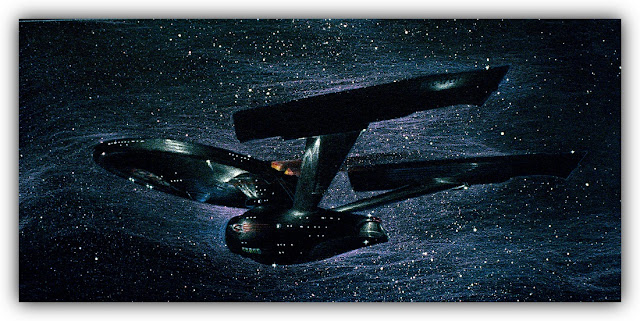 Starship Enterprise in Deep Space
