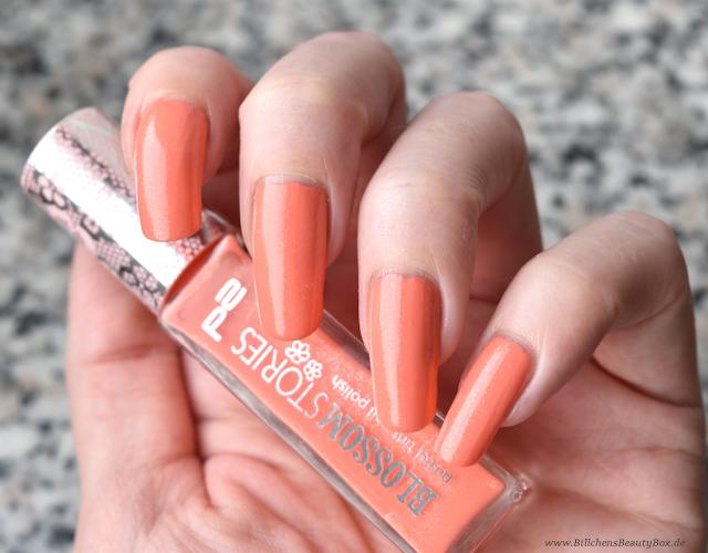p2 Cosmetics - Blossom Stories - pastel tint nail polish - Nagellack - sweet apricot