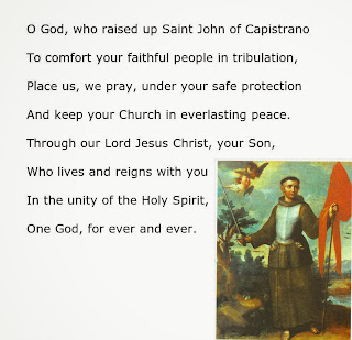 Saint John of Capistrano, patron saint of military chaplains