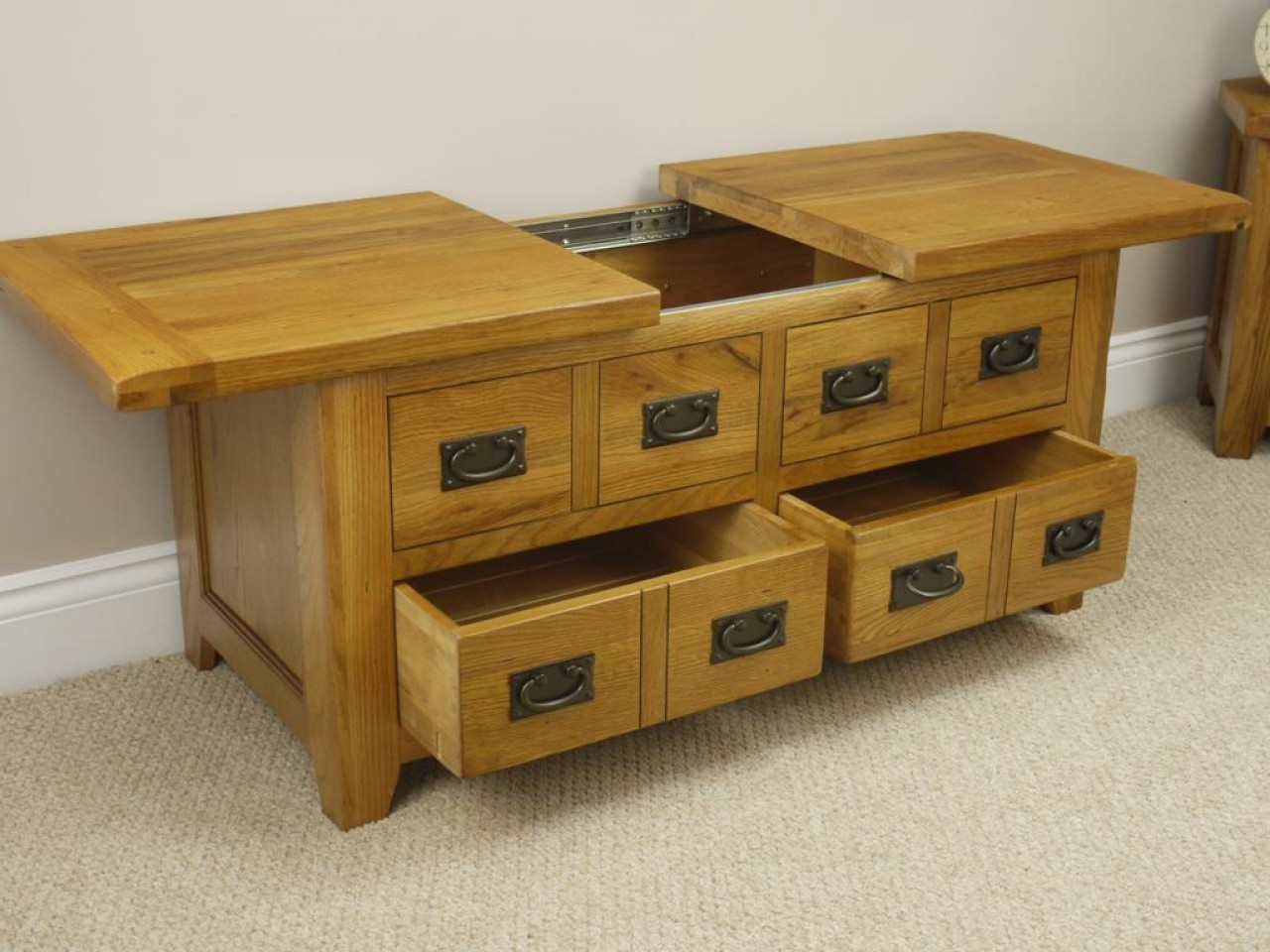 Coffee Table Storage Drawers Crosley Coffee Table With Storage Drawers By Oj Commerce 229 00
