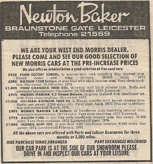 Newton Baker Ltd advert