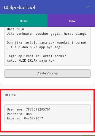 Cara mendapatkan voucher (akun) @wifi.id GRATIS 5