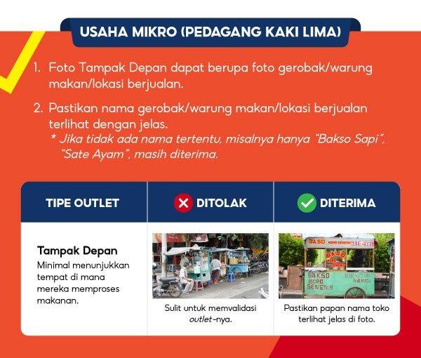 Cara Foto Pendaftaran Shopee Food Merchant 3