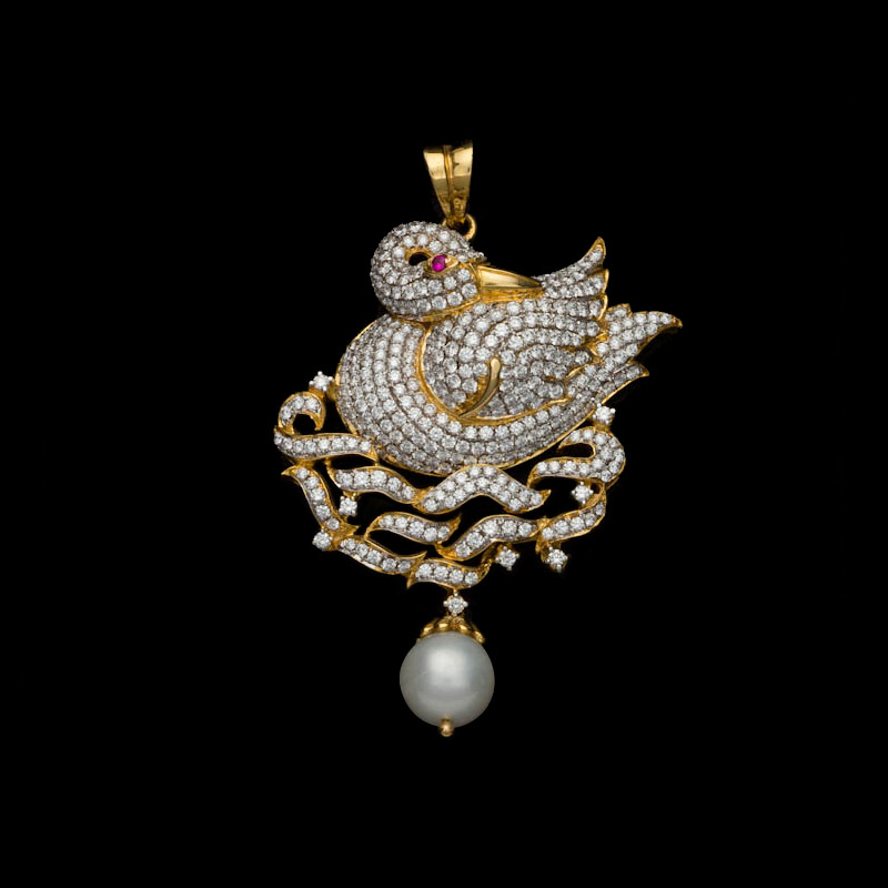 Indian Jewellery And Clothing Peacock Design Pendants