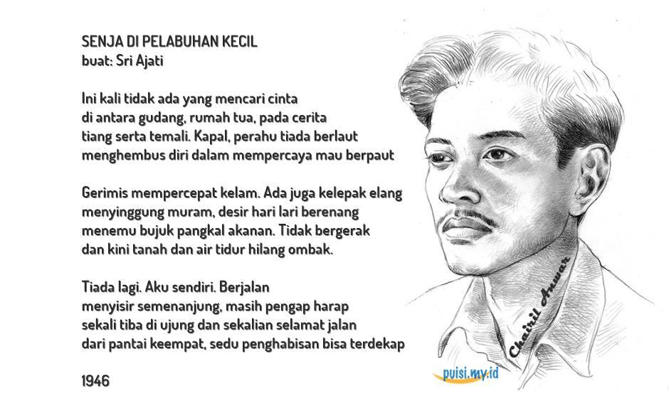 Sajak dan syair puisi cinta karya dari Chairil Anwar