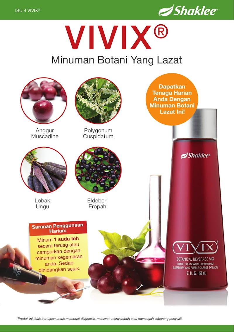 Vivix Minuman Botani Yang Lazat
