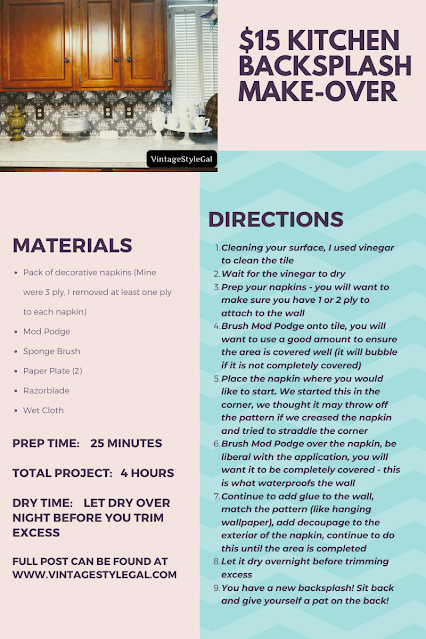 Directions on how to make over your backsplash