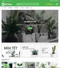 Mẫu template blogspot bán hoa, cây cảnh