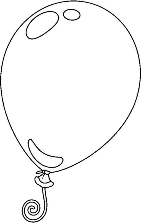 Hình tô màu quả bóng bay đơn giản