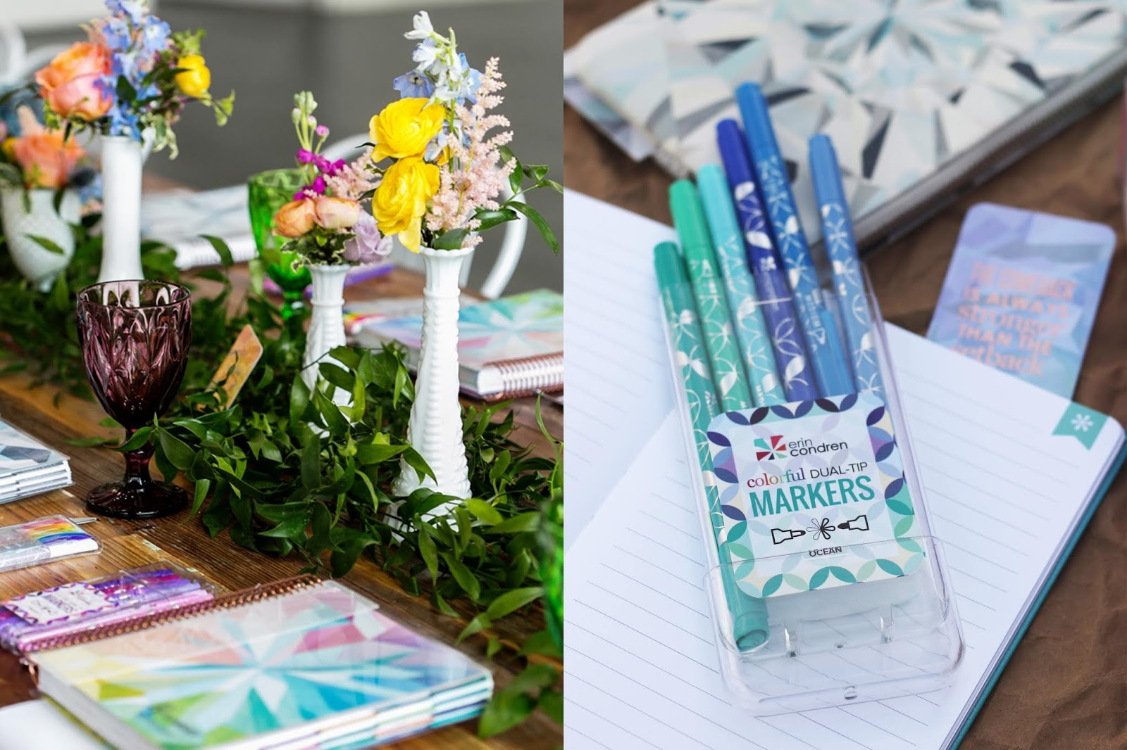 Erin Condren Kaleidoscope LifePlanner Launch, Chicago Blogger Events, Erin Condren Planner, Brunch, Hand Lettering Workshop