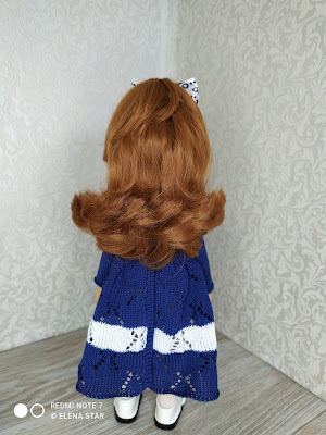 Хлопковое платье для куколок 32-34 см