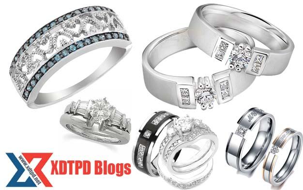 gambar cincin emas putih terbaru
