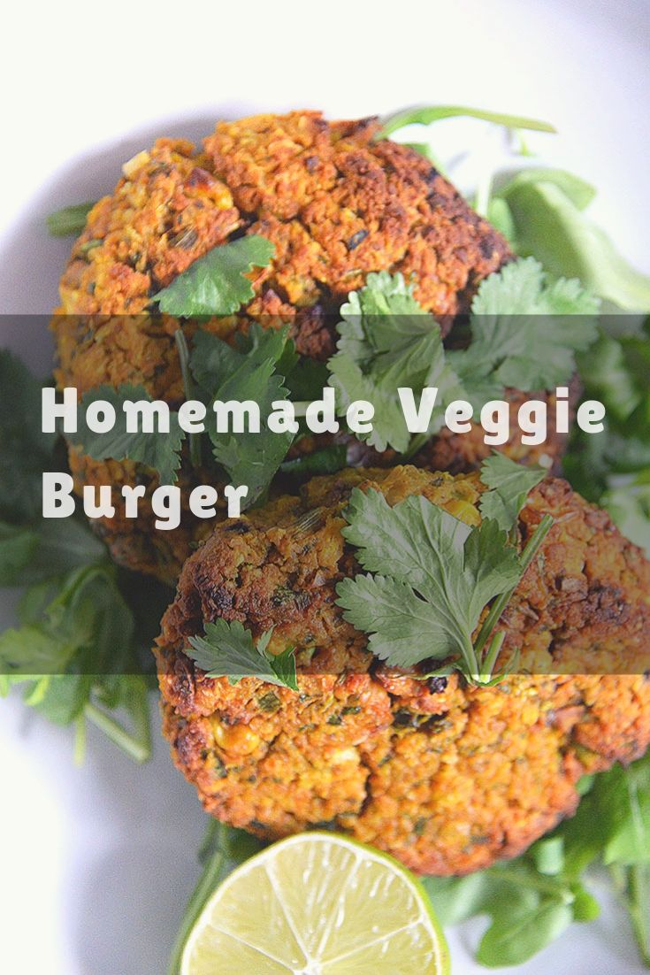 Homemade Veggie Burger - Homemade Veggie Burgers - healthy comfort food! Yum! Suggestions for making Low FODMAPS.Substitute garlic infused oil, onion greens or chives and potato...and if you can tolerate chick peas, give this a try!