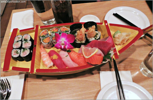 Sushi de Fuji en el Local de Kendall, Cambridge