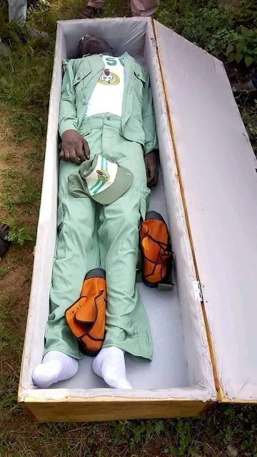Kogi Election: Corper Who Lost His Life To Thugs Buried Amidst Tears (Disturbing Photos)