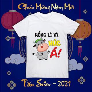 Mẫu áo thun tết Tân Sửu 2021