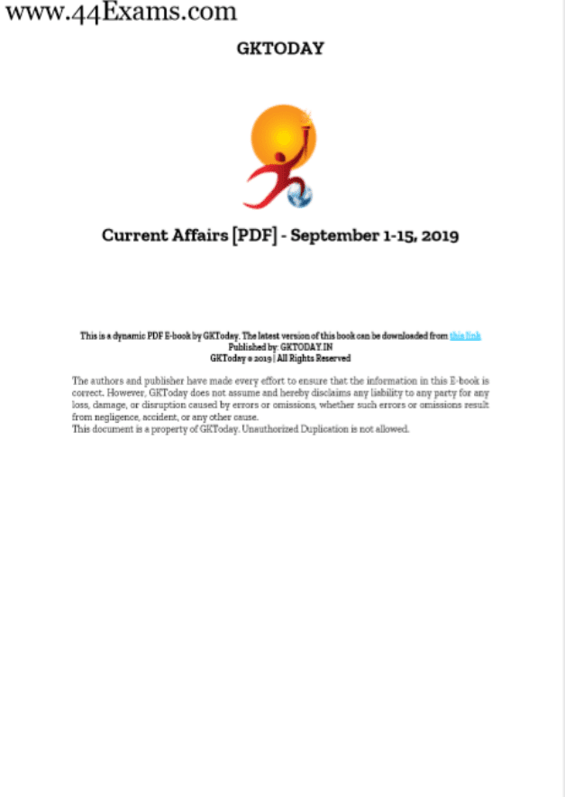 GK-Today-Current-Affairs-September-2019-For-All-Competitive-Exam-PDF-Book