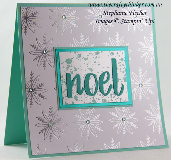 #thecraftythinker  #stampinup  #cardmaking  #christmascard #mercuryacetate , Mercury Glass Acetate, Feels Like Frost SDSP, Hand Lettered Prose dies, Christmas card, Stampin' Up Demonstrator, Stephanie Fischer, Sydney NSW