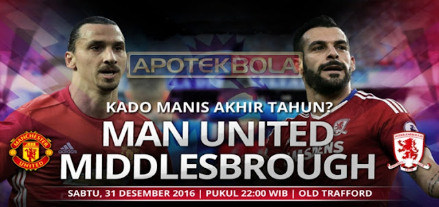 Prediksi Pertandingan Manchester United vs Middlesbrough 31 Desember 2016