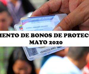 Monto de Bonos de protección mayo de 2020 by NoticieroVenezolano.com