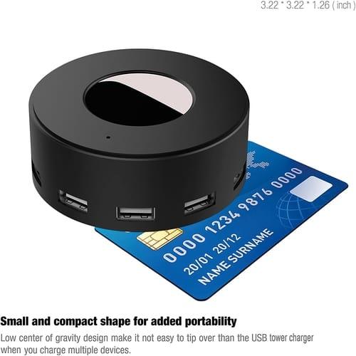 Vogek 6-Port USB Charger Desktop Charging Station