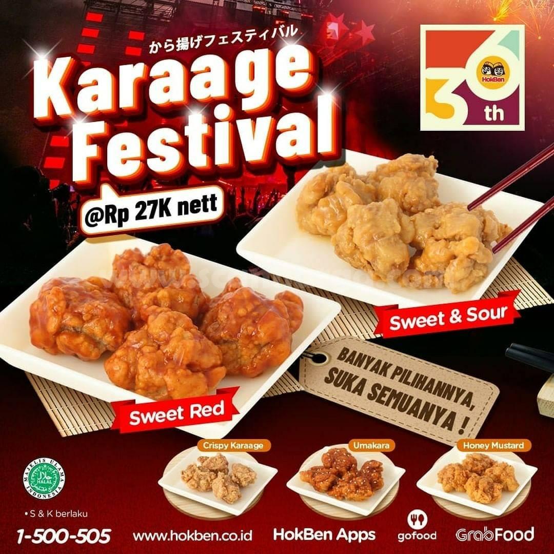 Hokben Promo Karaage Festival harga Hanya Rp. 27.000