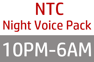NTC Unlimited Night Voice Pack (10PM-6AM)