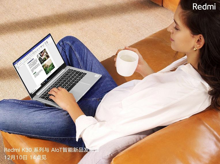 Extremely compact RedmiBook 13 shown externally and internally