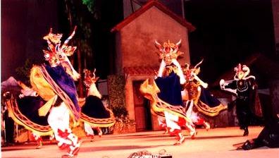 Foto al baile La Diablada en el escenario