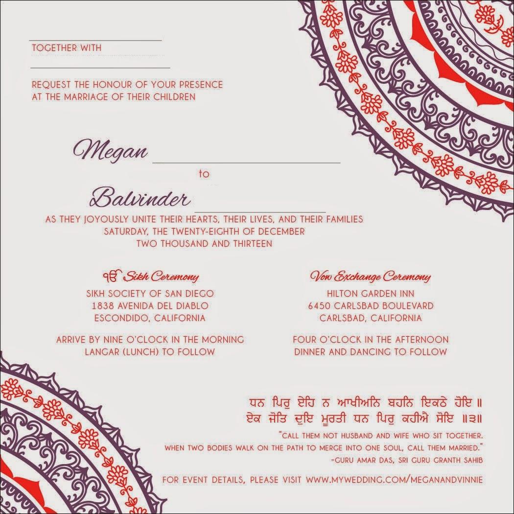 Planning A Sikh Fusion Wedding 2014