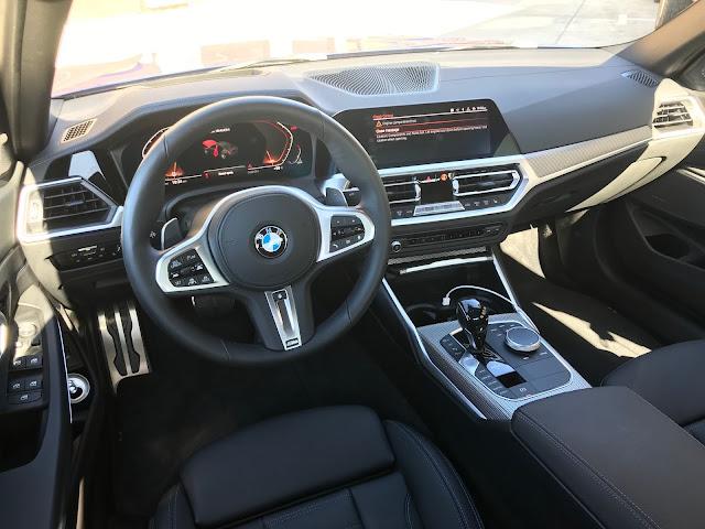 Interior view of 2020 BMW M340i