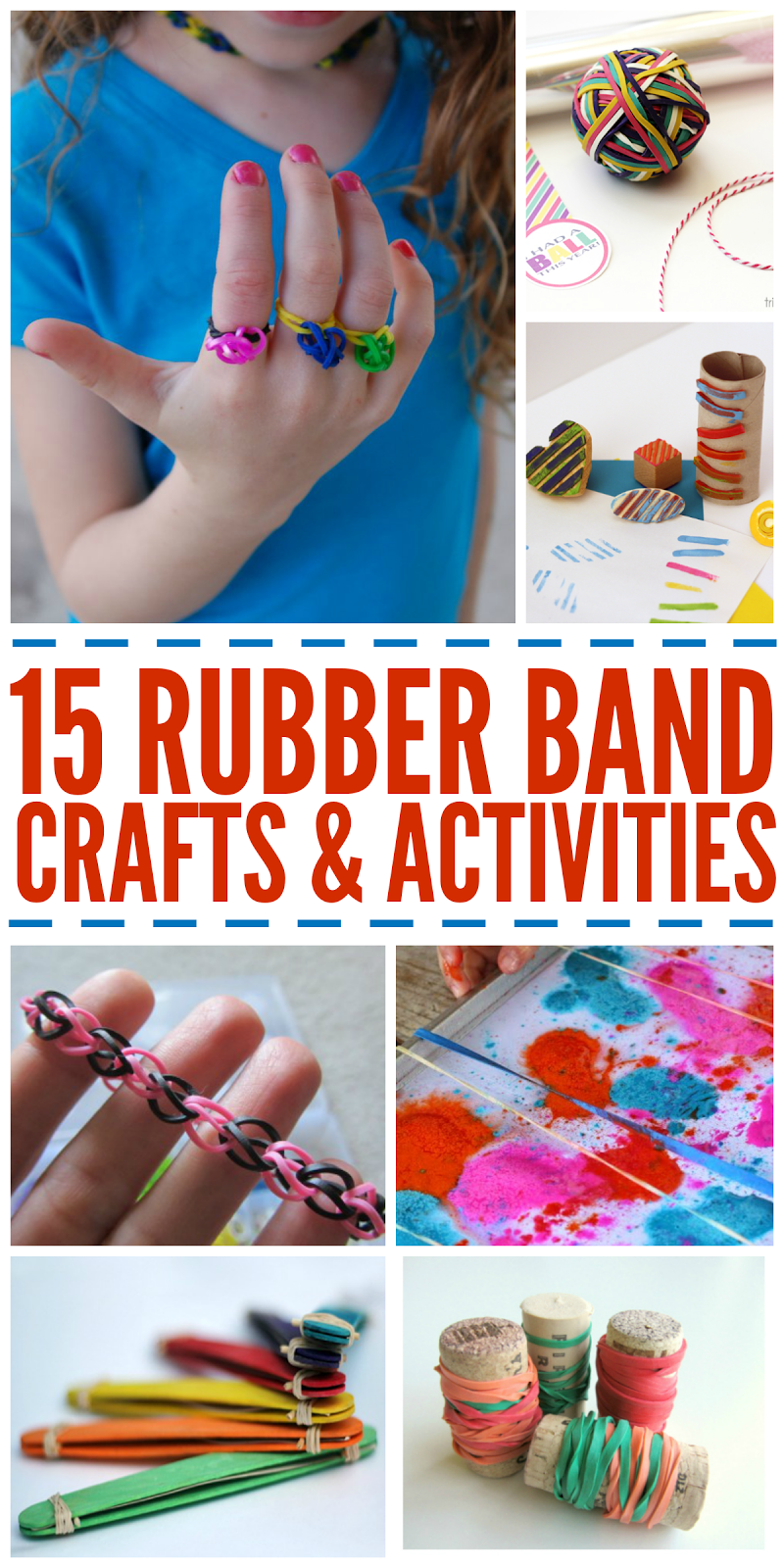 Life With 4 Boys 15 Rubber Band Crafts And Activities