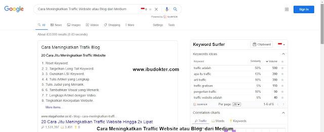 Cara Meningkatkan Traffic Website atau Blog dari Medium