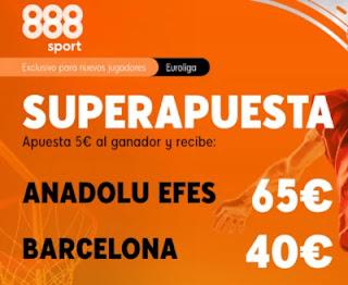 888sport superapuesta Anadolu Efes vs Barcelona 22 diciembre 2020