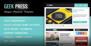 Geek Press V2.3 – Responsive Magazine Blogger Template Free Download