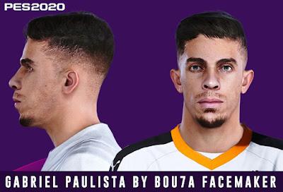 PES 2020 Faces Gabriel Paulista by Bou7a