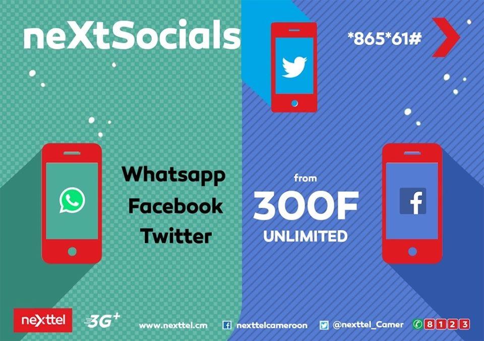 Nexttel Cameroon NeXtSocials Bundle Adds Unlimited Twitter