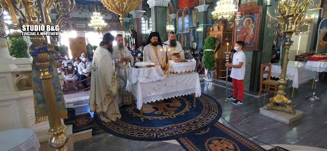 Ολοκληρώθηκαν οι θρησκευτικές εκδηλώσεις για την Τιμία Ζώνη στη Ν. Τίρυνθα Αργολίδας
