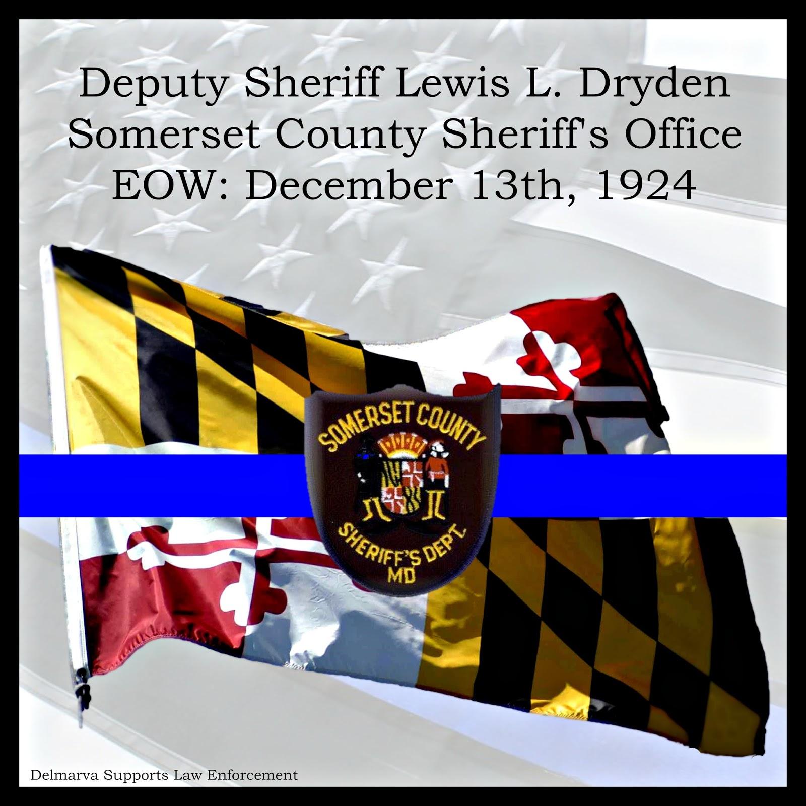 Delmarva Supports Law Enforcement: Deputy Sheriff Lewis L