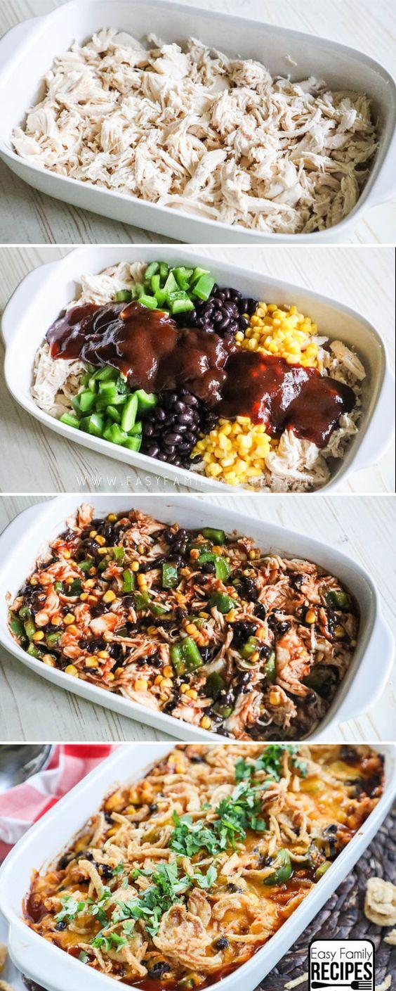 Shredded BBQ Chicken Casserole #recipest #dinnerideas #mealideas #goodmealideas #goodmealideasfordinner #food #foodporn #healthy #yummy #instafood #foodie #delicious #dinner #breakfast #dessert #yum #lunch #vegan #cake #eatclean #homemade #diet #healthyfood #cleaneating #foodstagram