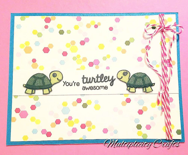 Sunny Studio Stamps: Turtley Awesome Turtle Card by Maranda