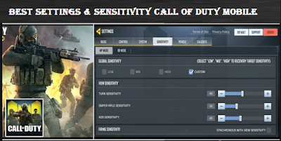 Best Settings & Sensitivity Call Of Duty Mobile