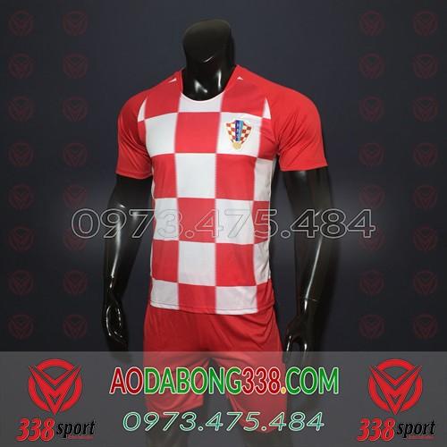Áo Đội Tuyển Croatia Đỏ 2018 2019 Sân Nhà